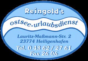 Logo Reingold's-Ostsee-Urlaubsdienst in Heiligenhafen